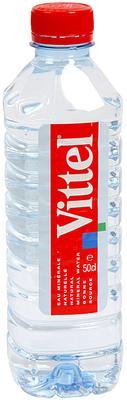 Вода негазированная «Vittel, 0.5 л» пластик