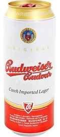 Пиво «Budweiser Budvar Svetly Lezak» в жестяной банке