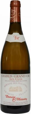 Вино белое сухое «Domaine des Malandes Chablis Grand Cru Les Clos» 2013 г.