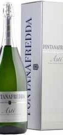 Вино игристое белое сладкое «Fontanafredda Asti» в подарочной упаковке