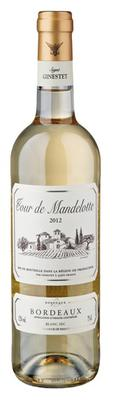 Вино белое сухое «Tour de Mandellotte Blanc, 0.75 л» 2016 г.