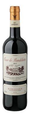 Вино красное сухое «Tour de Mandellotte Rouge» 2012 г.