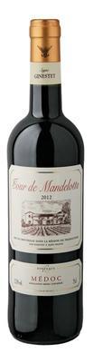 Вино красное сухое «Tour de Mandellotte Medoc»