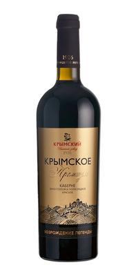 Вино красное полусладкое «Крымское Премиум Каберне»