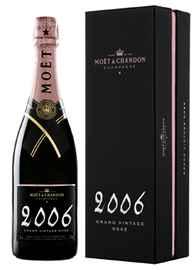 Шампанское розовое брют «Moet & Chandon Brut Vintage Rose» 2006 г., в подарочной упаковке
