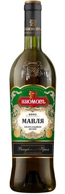 Вино белое полусладкое «Мавля»
