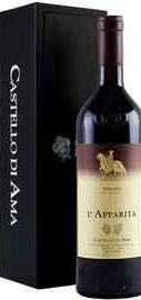 Вино красное сухое «Castello di Ama L'Apparita» 2011 г. в подарочной упаковке