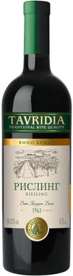 Вино белое полусухое «Тавридия Рислинг»