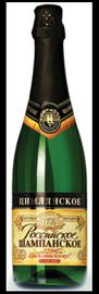 Российское шампанское белое брют «Цимлянское»