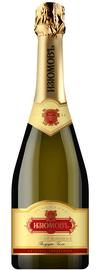 Российское шампанское белое полусухое «Изюмовъ»