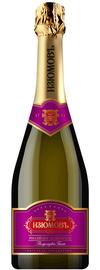 Российское шампанское белое полусладкое «Изюмовъ»