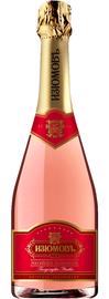 Российское шампанское розовое полусладкое «Изюмовъ»