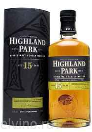 Виски шотландский «Highland Park 15 Years Old» в подарочной упаковке