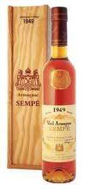 Арманьяк «Vieil Armagnac Sempe» 1949 г. в подарочной упаковке