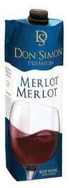Вино красное полусухое «Don Simon Premium Merlot (Tetra Pak)»