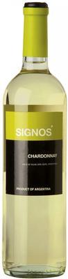 Вино белое полусухое «Signos Chardonnay» вино с защищенным географическим указанием регионом Сан Хуан