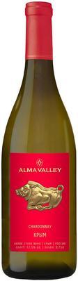 Вино белое сухое  «Alma Valley Chardonnay, 0.75 л» 2015 г., географического наименования