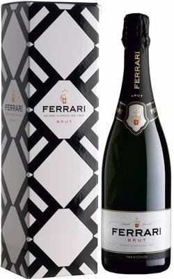 Вино игристое белое брют «Trento Ferrari Brut, 6 л» в подарочной упаковке