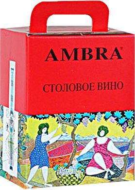 Вино столовое красное сухое столовое «Vino Rosso da Tavola Ambra»