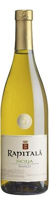 Вино белое сухое «Rapitala Bianco» 2015 г., защищенного наименования места происхождения региона Сицилия