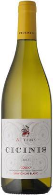 Вино белое сухое «Attems Cicinis» 2012 г.