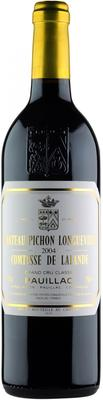 Вино красное сухое «Chateau Pichon-Longueville-Comtesse de Lalande Pauillac 2-me Grand Cru Classe» 2004 г.