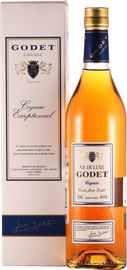 Коньяк французский  «Godet Cuvee Jean V.S. de luxe» в подарочной упаковке