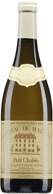 Вино белое сухое «Chateau de Maligny Petit Chablis, 0.75 л» 2015 г.