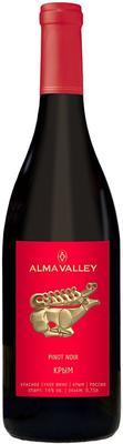 Вино красное сухое  «Alma Valley Pinot Noir» 2014 г.