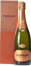 Вино игристое розовое брют «Ferrari Perle Rose Brut» в подарочной упаковке
