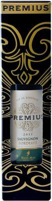 Вино белое сухое  «Premius Sauvignon Bordeaux» в подарочной упаковке