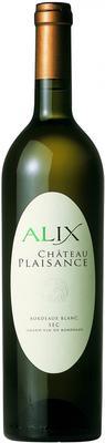 Вино белое сухое «Chateau Plaisance Cuvee Alix» 2012 г.