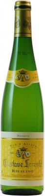 Вино белое полусухое «Gustave Lorentz Riesling Reserve Alsace» 2015 г.
