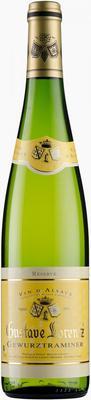 Вино белое полусухое «Gustave Lorentz Gewurztraminer Reserve» 2015 г.