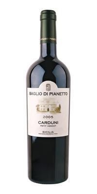 Вино красное сухое «Carduni Petit Verdot» 2005 г.