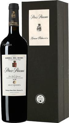 Вино красное сухое «Perez Pascuas Gran Seleccion Gran Reserva» 2005 г. в подарочной упаковке