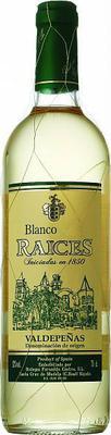 Вино белое сухое «Raices Blanco» 2018 г.