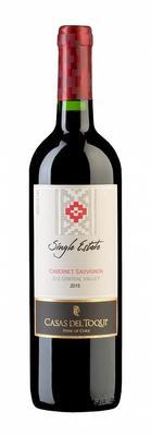 Вино красное сухое «Casas Del Toqui Single Estate» 2015 г. с защищенным географическим указанием