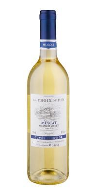 Вино белое полусладкое «La Croix du Pin Muscat»
