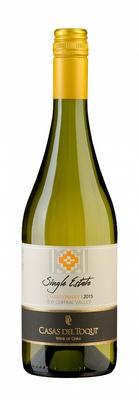 Вино белое сухое «Casas Del Toqui Chardonnay Single Estate» 2015 г. с защищенным географическим указанием
