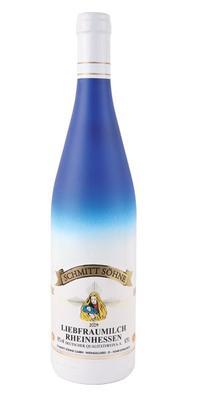 Вино белое полусладкое «Liebfraumilch» 2013 г. в бело-голубой бутылке
