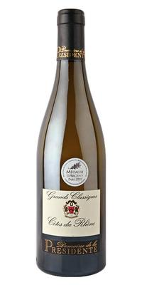 Вино белое сухое «Domaine de la Presidente Grands Classique blanc» 2012 г.