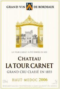 Вино красное сухое  «Chateau La Tour Carnet» 2007 г.