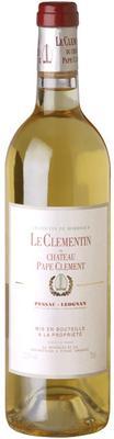 Вино белое сухое «Le Clementin du Chateau Pape Clement blanc» 2012 г.