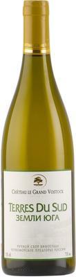 Вино белое сухое «Chateau le Grand Vostock Terres Du Sud Blanc»