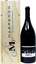 Вино красное сухое «Marrenon Оrca Ventoux» 2014 г. в подарочной упаковке