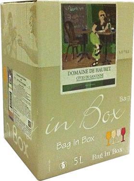 Вино белое сухое «Domaine de Haubet, 5 л» 2013 г., тетрапак