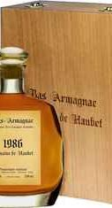 Арманьяк «Domaine de Haubet Bas-Armagnac» 1986 г. в подарочной упаковке