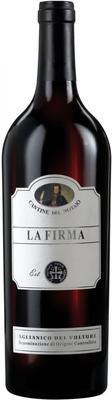 Вино красное сухое «La Firma Aglianico del Vulture» 2012 г.