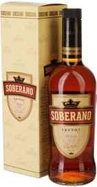 Бренди «Soberano» в подарочной упаковке